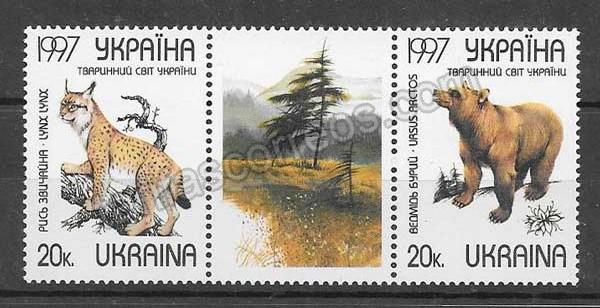 enviar paquetes desde - valor sellos fauna salvaje Ucrania 1997