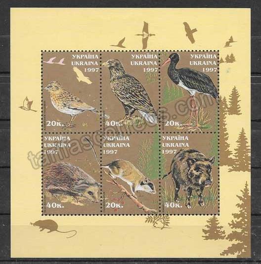 enviar paquetes desde - valor sellos fauna Ucrania-1997-02