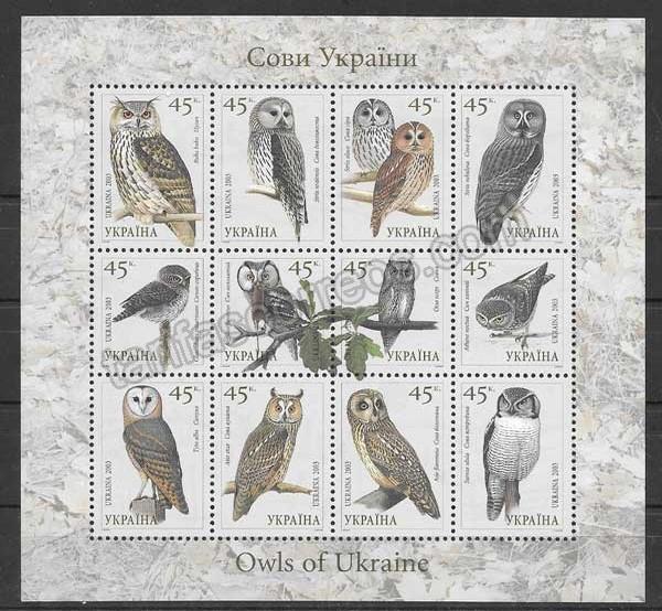 enviar paquetes desde - valor sellos filatelia fauna aves rapaces 2003