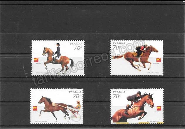 comprar Estampillas fauna serie de caballos deporte