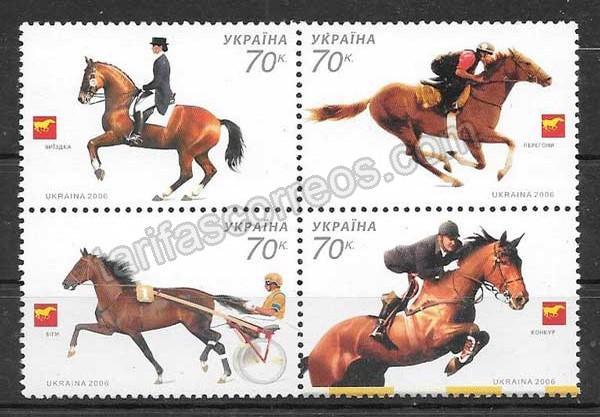 comprar Estampillas fauna caballos diversos