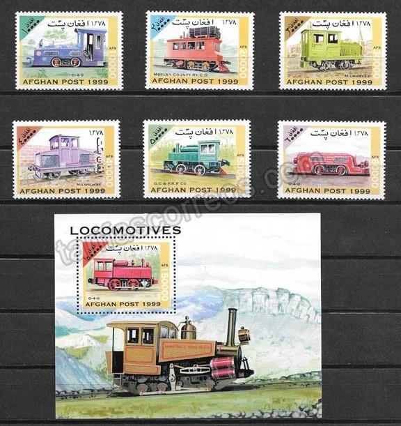 valor y precio Colección sellos transporte ferroviario de Afganistán