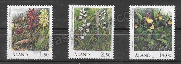 enviar paquetes desde - valor sellos Flora de Aland 1989