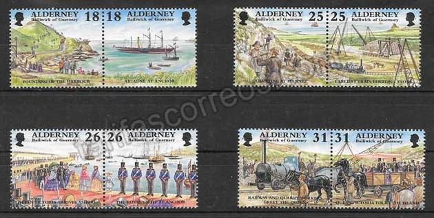 Filatelia sellos transporte ferroviario del país