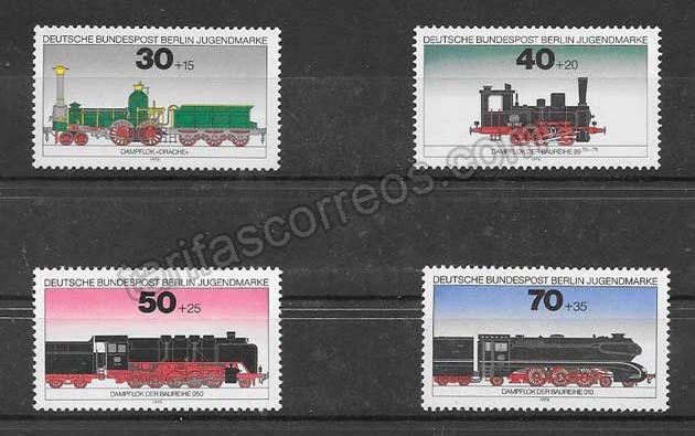 comprar Estampillas trenes de Alemania de 1975