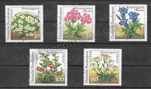 enviar paquetes desde - valor sellos flores del jardín botánico Alemania