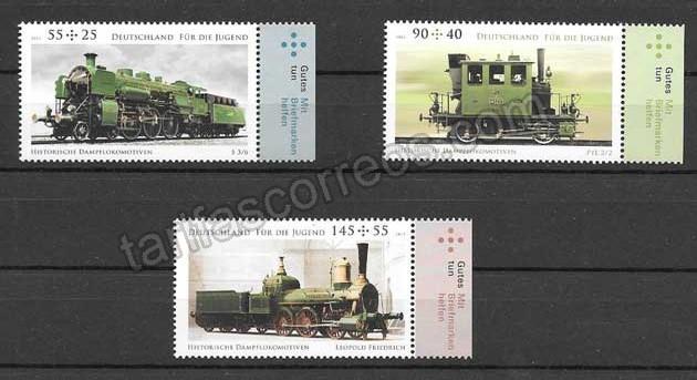 enviar paquetes desde - valor sellos Filatelia transporte ferroviario Alemania 2012