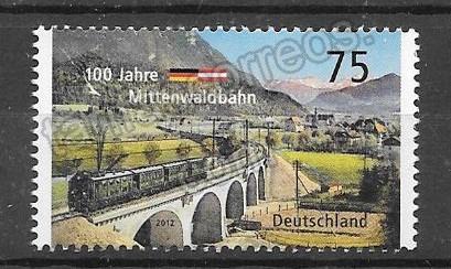 enviar paquetes desde - valor sellos Filatelia transporte trenes del año 2012
