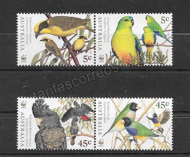 comprar Estampillas protección fauna Australia 1998