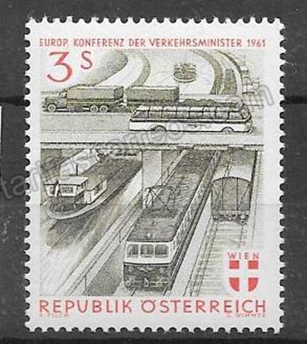 comprar Estampillas transportes Austria 1961