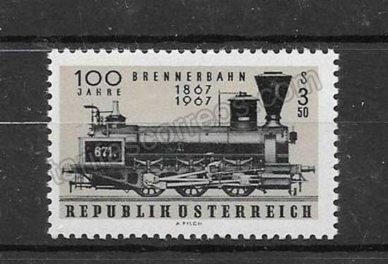 comprar Estampillas trenes Austria-1967-01