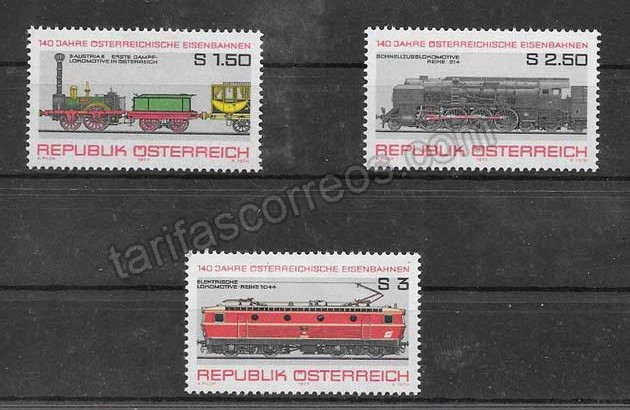valor y precio Colección sellos locomotoras antiguas 1977