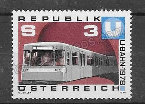 valor y precio Colección sellos transporte ferroviario Austria 1978