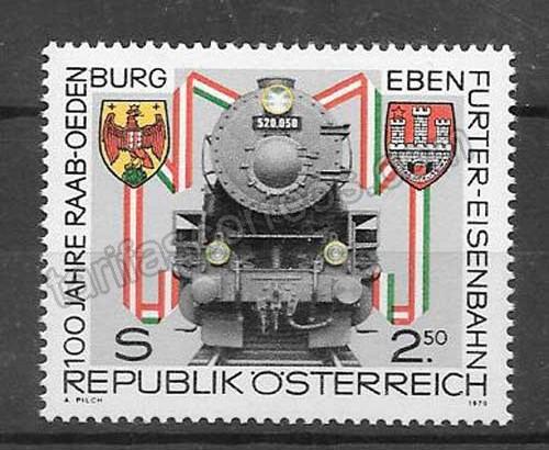 valor y precio Colección sellos Tren de Austria 1979