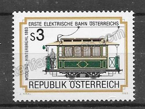 valor y precio Colección sellos tranvía Austria 1983