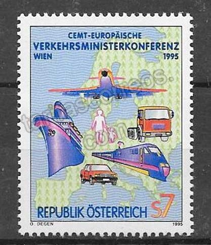 Filatelia sellos Conferencia Europea de Transporte