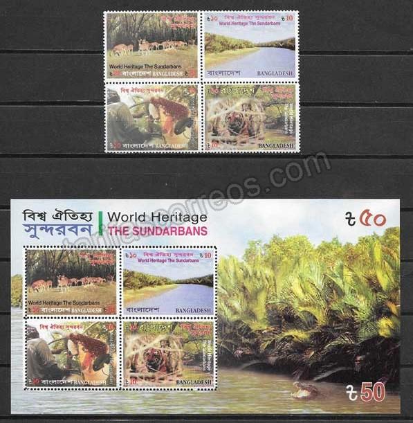enviar paquetes desde - valor sellos Bangladesh-2008-01
