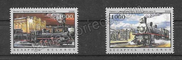 enviar paquetes desde - valor sellos filatelia locomotoras y estaciones