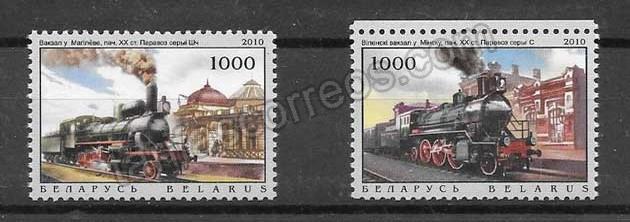 enviar paquetes desde - valor sellos filatelia estaciones y locomotoras - trenes 2010