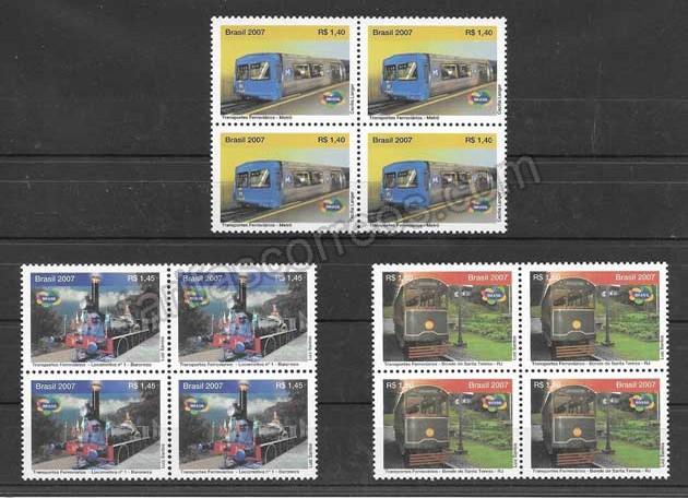 Filatelia sellos Brasil-2007-02