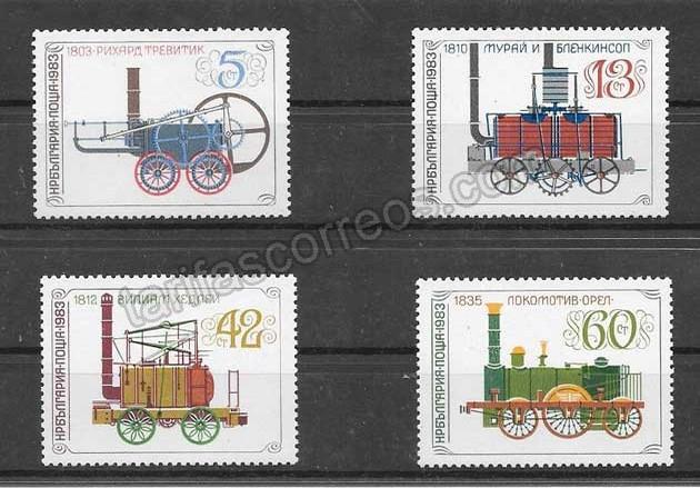 enviar paquetes desde - valor sellos trenes antiguos de Bulgaria