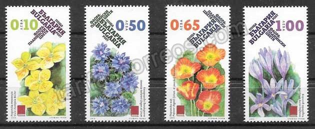enviar paquetes desde - valor sellos flores Bulgaria 2015