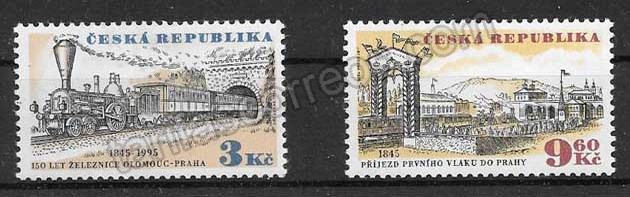 enviar paquetes desde - valor sellos Chequia 1995 trenes