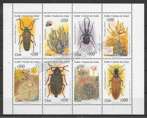 enviar paquetes desde - valor sellos fauna y flora Chile 1995