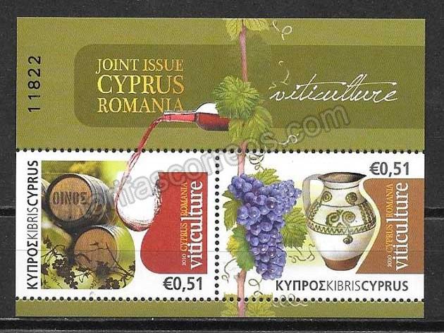 enviar paquetes desde - valor sellos Chipre flora 2010