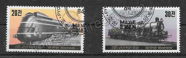 valor y precio Colección sellos trenes de Corea 1984