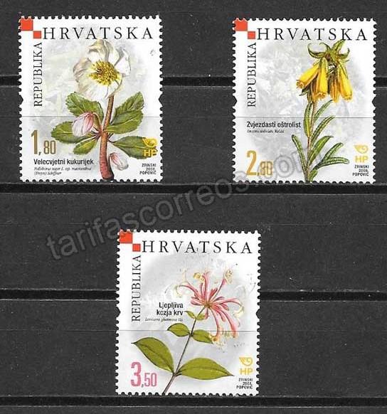 Filatelia flora Croacia 208