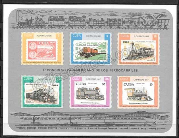 Sellos Filatelia Cuba-1987-01