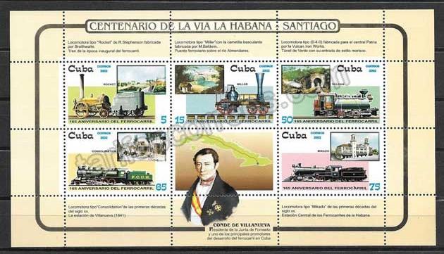 enviar paquetes desde - valor sellos Colección Cuba-2002-02