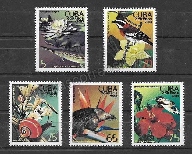 comprar Estampillas flora y fauna Cuba 2003