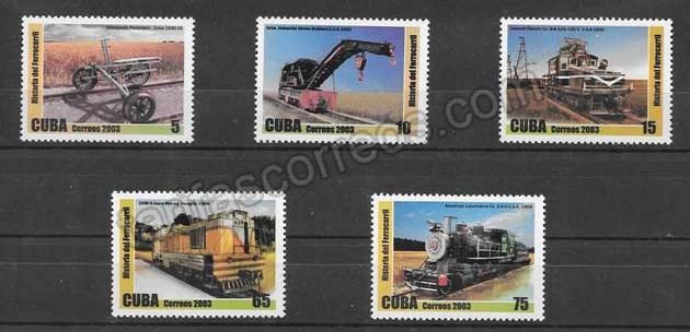 Filatelia sellos historia de los trenes antiguos