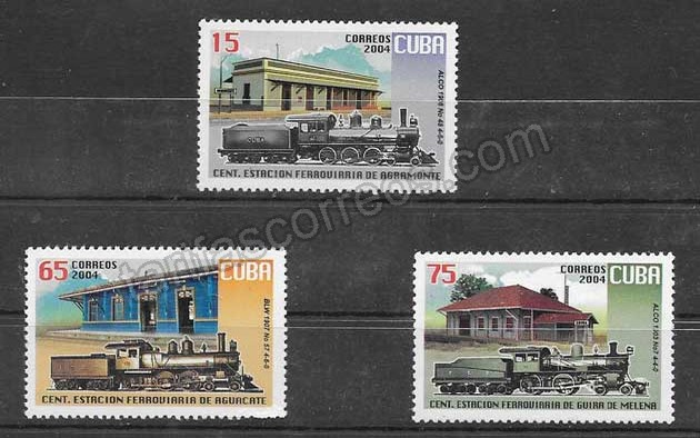 enviar paquetes desde - valor sellos trenes y estaciones de Cuba