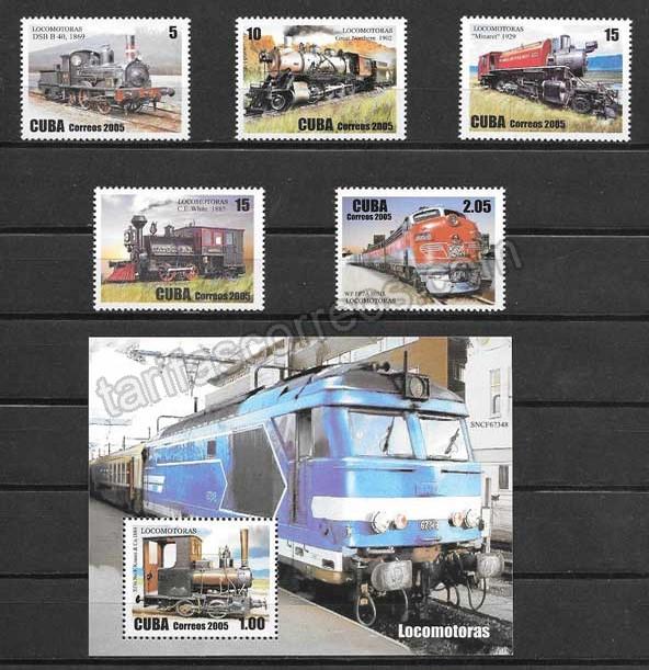 enviar paquetes desde - valor sellos transporte ferroviario - locomotoras