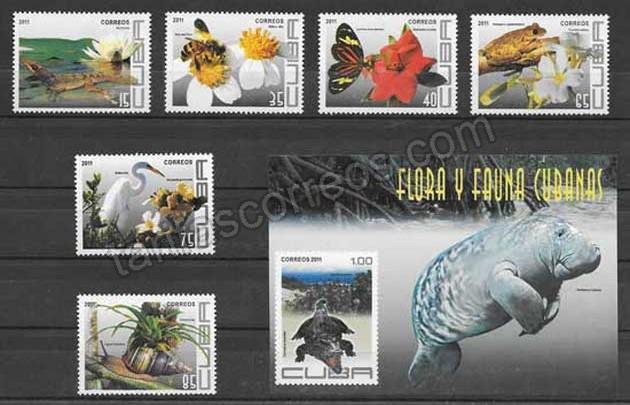 valor y precio Colección sellos fauna y flora cubana