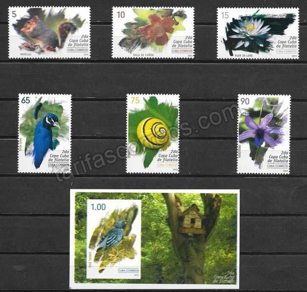 valor y precio Colección sellos flora y fauna cubana