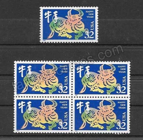 enviar paquetes desde - valor sellos Filatelia EE.UU-1997-01