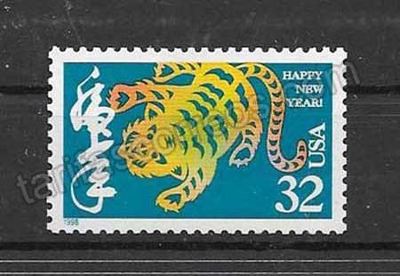 enviar paquetes desde - valor sellos Filatelia EE.UU-1998-01
