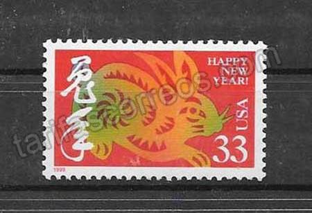 enviar paquetes desde - valor sellos Filatelia EE.UU-1999-01