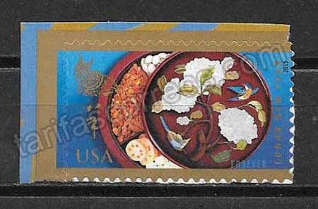enviar paquetes desde - valor sellos USA año lunar 2015