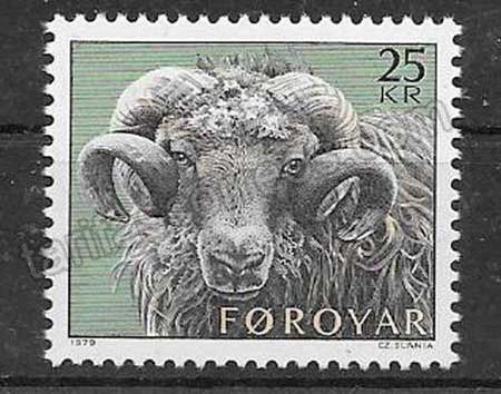 enviar paquetes desde - valor sellos Feroe-1979-01