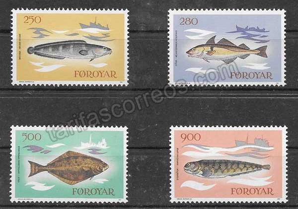 Estampillas fauna - peces del Feroe