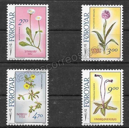Filatelia Sellos flora del país 1988