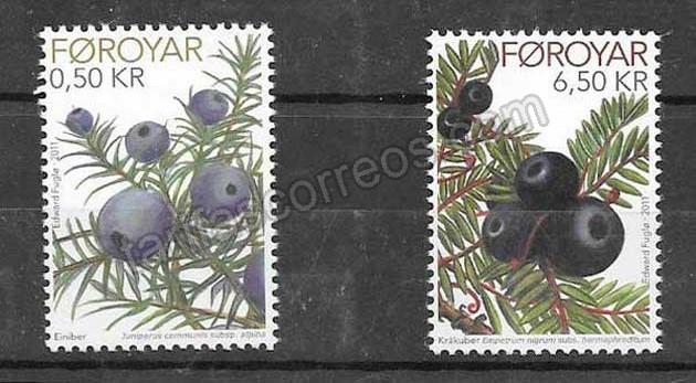 enviar paquetes desde - valor sellos frutos Feroe 2011