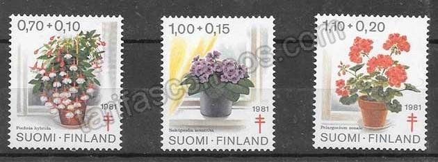 enviar paquetes desde - valor sellos colección flora Finlandia 1981