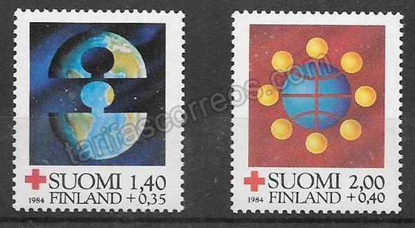 enviar paquetes desde - valor sellos Cruz Roja Finlandia 1984