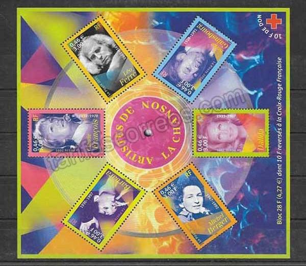 enviar paquetes desde - valor sellos  Cruz roja Francia-2001-01